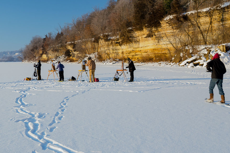 Plein-Air-Painting-Winter-in-Minnesota-on-the-St-Croix-River-Bob-Bonawitz-and-friends.jpg