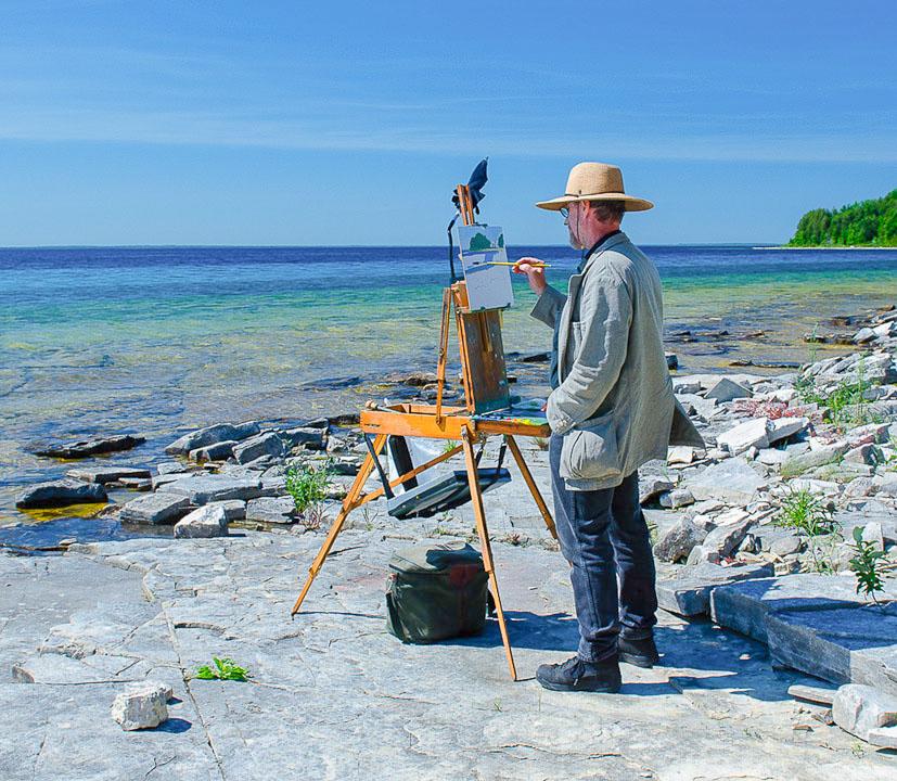 Plein-Air-painting-at-Garden,-Michigan,-Lake-Michigan.jpg