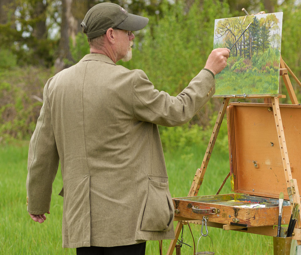 Tyrone-Land-Restoration,-Wisconsin,-Bob-Bonawitz-plein-air-painting-an-Oak-Savanna._.jpg